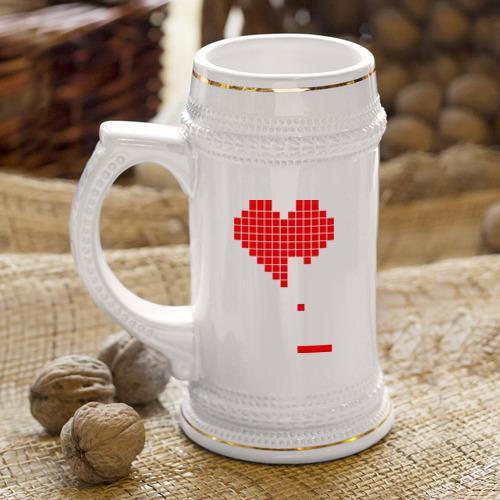 Кружка пивная  Фото 04, Heart tetris