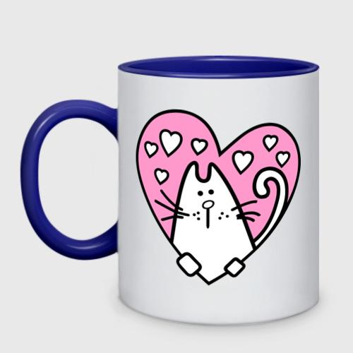 Кружка двухцветная Милый котик(2) Фото 01