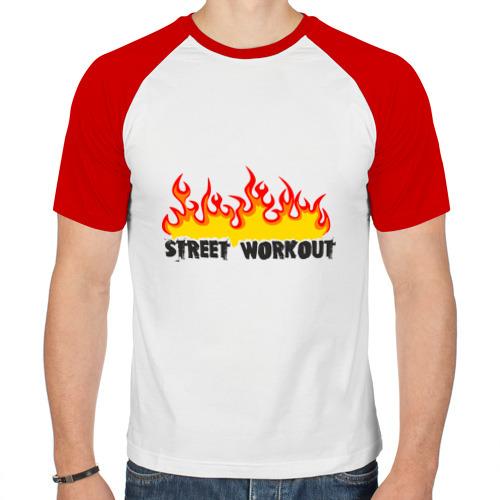 Мужская футболка реглан  Фото 01, Street workout fire