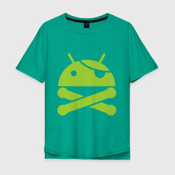 Мужская футболка Oversize Android super user