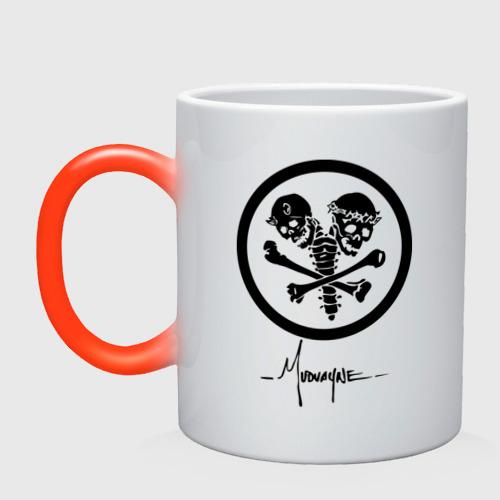 Кружка хамелеон  Фото 01, Mudvayne (logo)