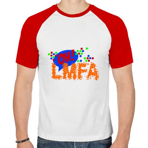 Мужская футболка реглан  Фото 01, LMFAO брызги