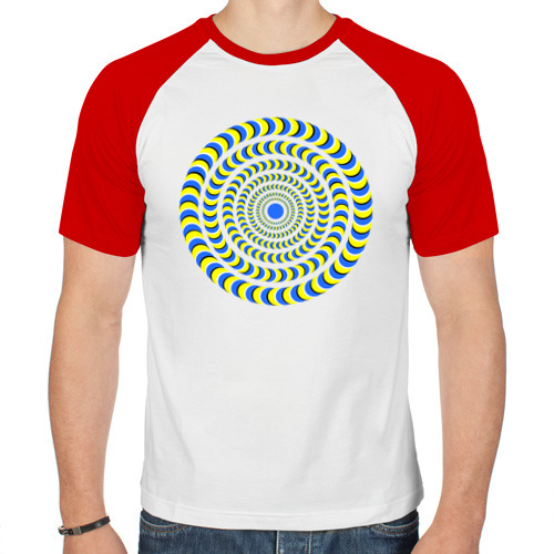 Мужская футболка реглан  Фото 01, Психоделика полноцвет