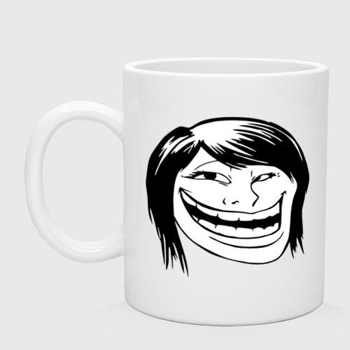 Кружка  Фото 01, trollface female