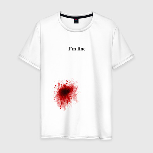 Мужская футболка хлопок  Фото 01, Im fine (Я в порядке)