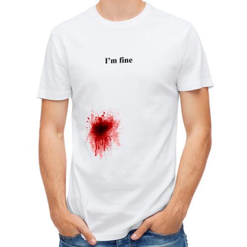 """Мужская футболка синтетическая """"Im fine"""" (Я в порядке) - 1"""