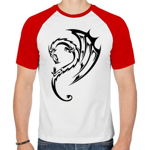 Мужская футболка реглан  Фото 01, тату-дракон3