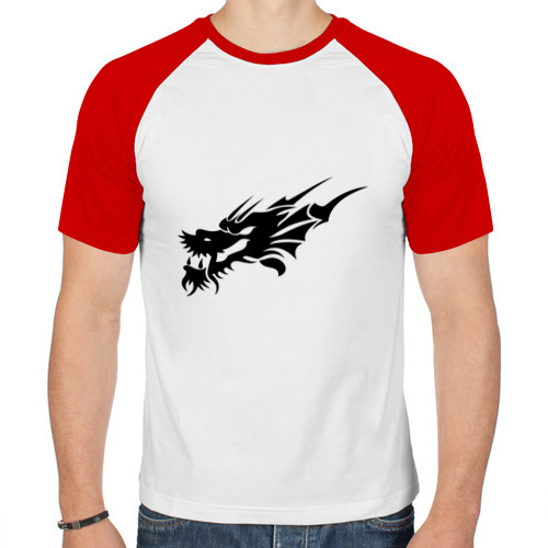 Мужская футболка реглан  Фото 01, тату-дракон6