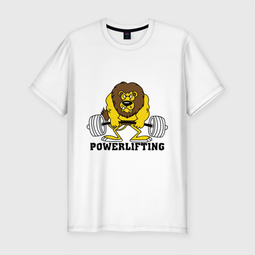 Мужская футболка премиум  Фото 01, Лев Powerlifting