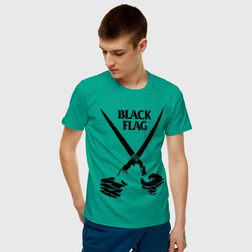 Мужская футболка хлопок  Фото 03, Black Flag (1)
