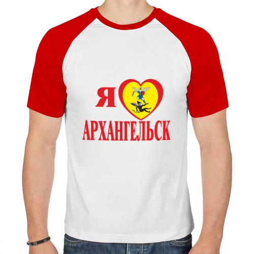 Мужская футболка реглан  Фото 01, Люблю Архангельск