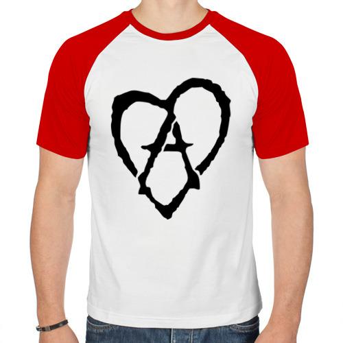 Мужская футболка реглан  Фото 01, Анархия в сердце