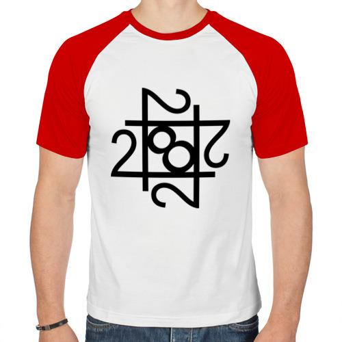 Мужская футболка реглан  Фото 01, 228-решетка