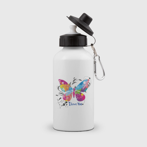 Бутылка спортивная  Фото 01, Бабочка - I Love You