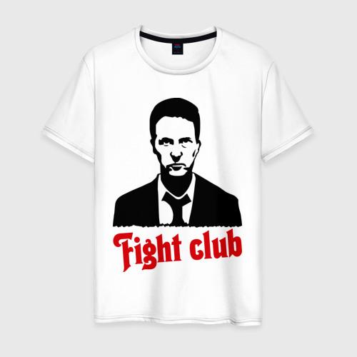 Мужская футболка хлопок Эдвард Нортон бойцовский клуб