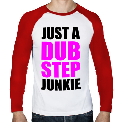 Мужской лонгслив реглан  Фото 01, Just a dubstep junkie (1)