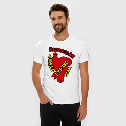 Мужская футболка премиум  Фото 03, RUSSIAN STUNT RIDING TEAM