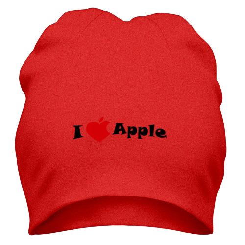 Шапка я люблю яблоко