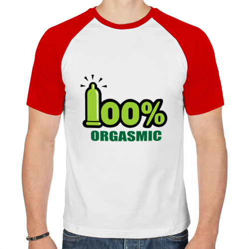 Мужская футболка реглан  Фото 01, 100% orgasmic