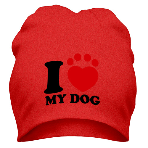 Шапка I Love My Dog