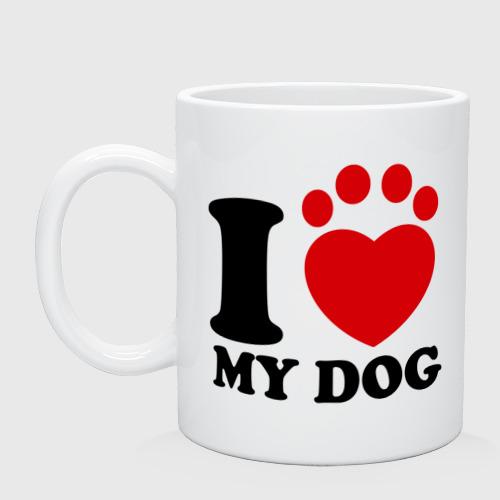 Кружка  Фото 01, I Love My Dog