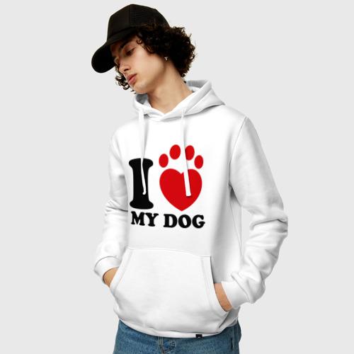 Мужская толстовка хлопок  Фото 03, I Love My Dog