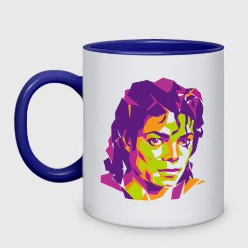 Кружка двухцветная  Фото 01, Michael Jackson полноцвет