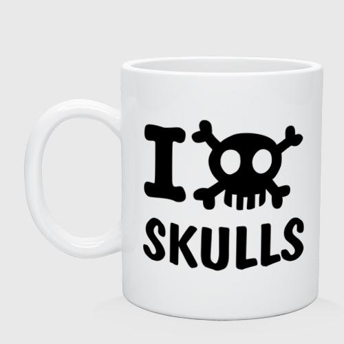 Кружка  Фото 01, Love skulls