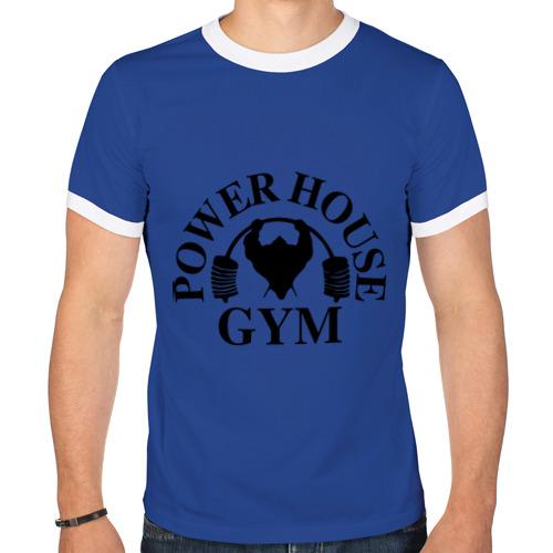 """Мужская футболка-рингер """"Power House Gym"""" - 1"""