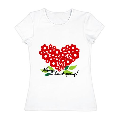 Женская футболка хлопок  Фото 01, Всегда на сердце весна!
