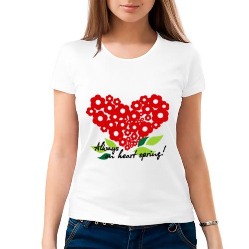 Женская футболка хлопок  Фото 03, Всегда на сердце весна!