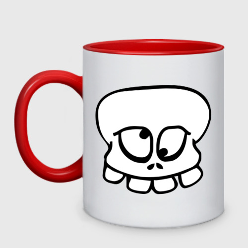 Кружка двухцветная  Фото 01, Crazy_Skull