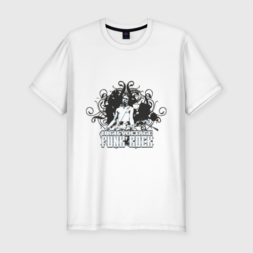 Мужская футболка премиум  Фото 01, High Voltage Punk Rock