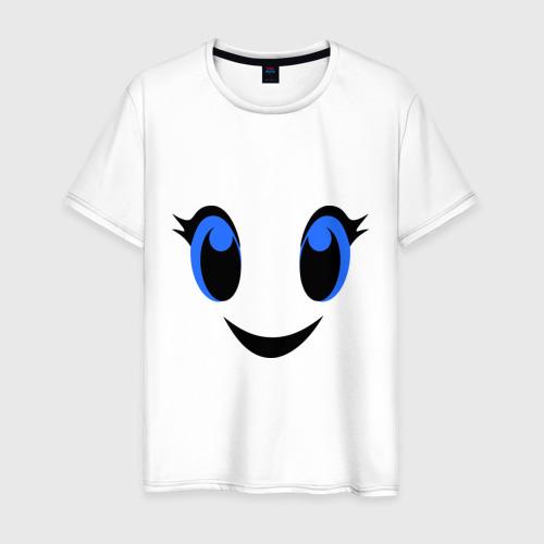Мужская футболка хлопок Милое личико улыбается