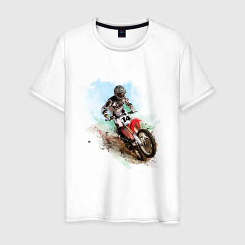 Мужская футболка хлопок MOTO X