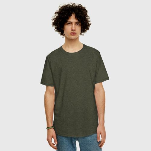 Мужская футболка хлопок Oversize Бабу сдуло Фото 01