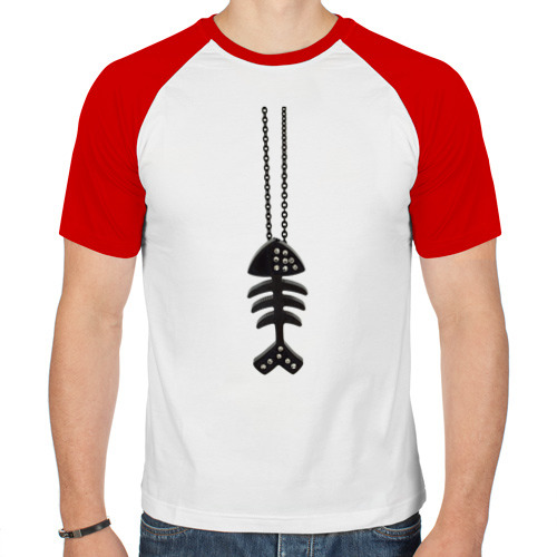 Мужская футболка реглан  Фото 01, Кулон рыба