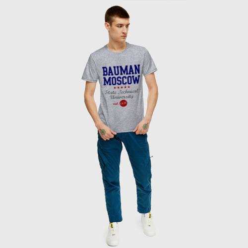 Мужская футболка хлопок МГТУ Фото 01