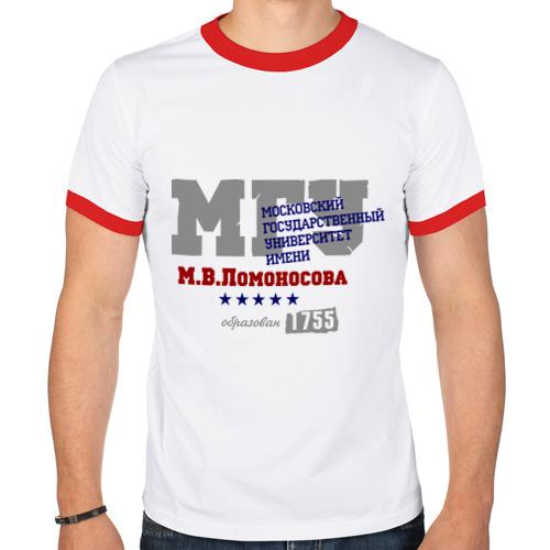 Мужская футболка рингер  Фото 01, МГУ рус