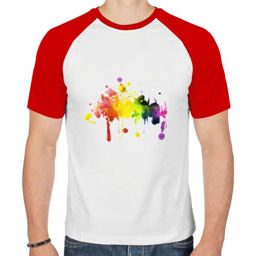 Мужская футболка реглан  Фото 01, Супер клякса