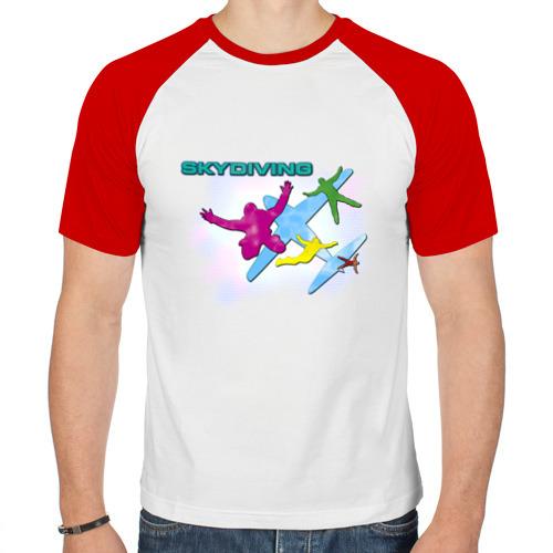 Мужская футболка реглан  Фото 01, SkyDiving принт
