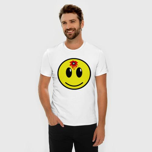 Мужская футболка премиум  Фото 03, Убитый смайлик