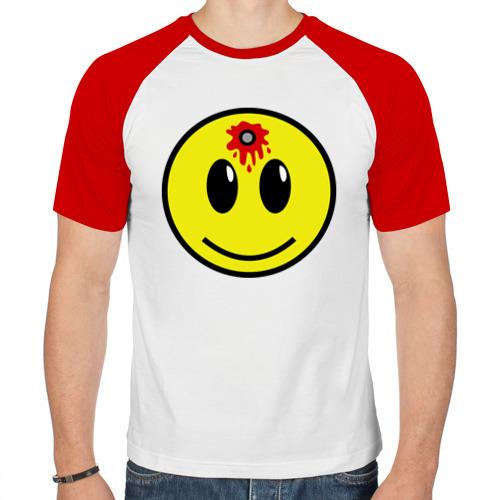 Мужская футболка реглан  Фото 01, Убитый смайлик