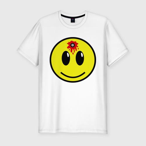 Мужская футболка премиум  Фото 01, Убитый смайлик
