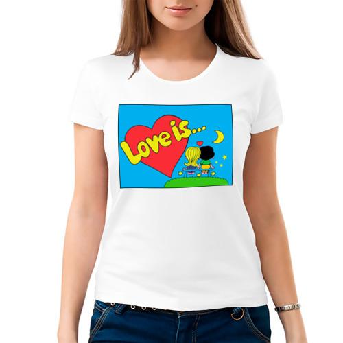 Женская футболка Love is жевачка от Всемайки