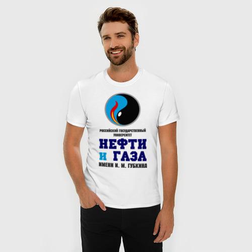Мужская футболка премиум  Фото 03, РГУ Нефти и Газа
