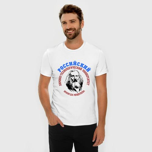 Мужская футболка премиум  Фото 03, Менделеева рус
