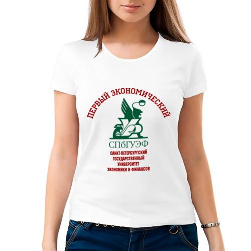 Женская футболка СПБ ГУЭФ рус от Всемайки