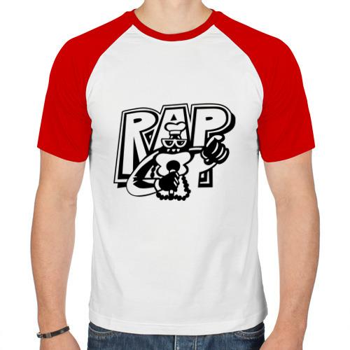 Мужская футболка реглан  Фото 01, Rap man