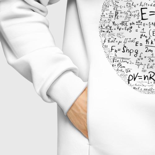 Мужское худи Oversize хлопок Яблоко Ньютона (формулы физики) Фото 01